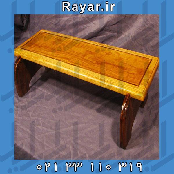 پایه چوبی با جلا مناسب انواع مانیتور و لپ تاپ