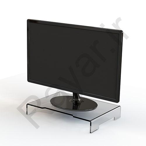 فروش آنلاین زیر مانیتوری ثابت پلکسی شفاف - بی رنگ مثل شیشه