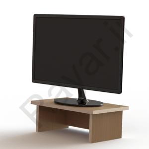 فروش آنلاین زیر مانیتوری MDF طرح چوب روشن